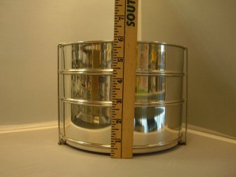 Stackable steel containers for your pressure cooker