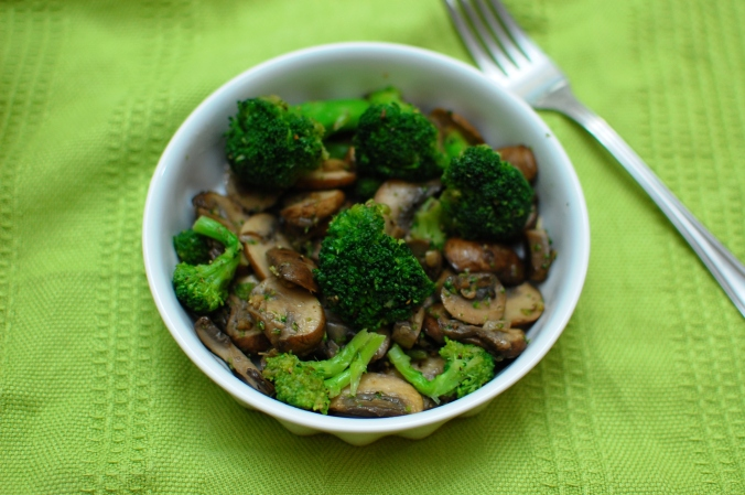broccoli and mushroom salad 2