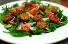 Kale & Spinach salad with sausage 2