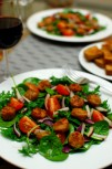 Kale & Spinach salad with sausage 4