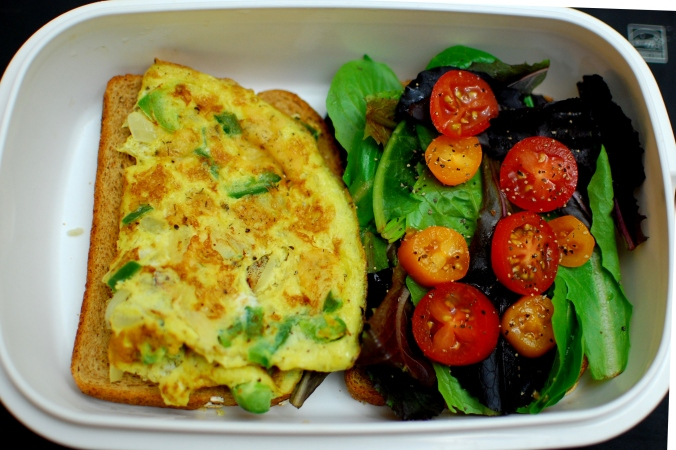 Lunch box ideas - omlet sandwich