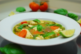 tofu in green curry 3