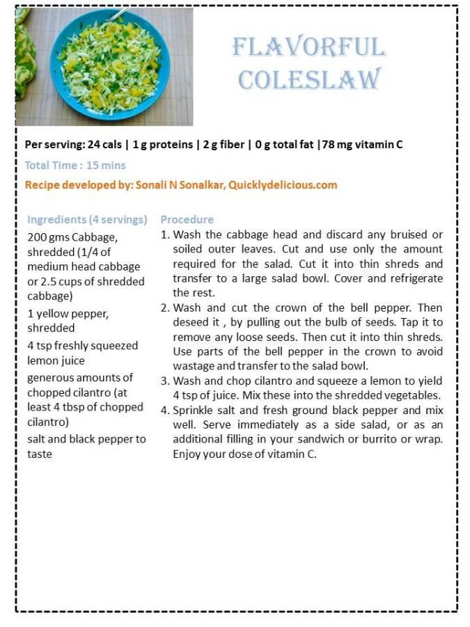 Flavorful Coleslaw