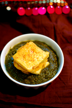 Palak with Tofu pakora (1)