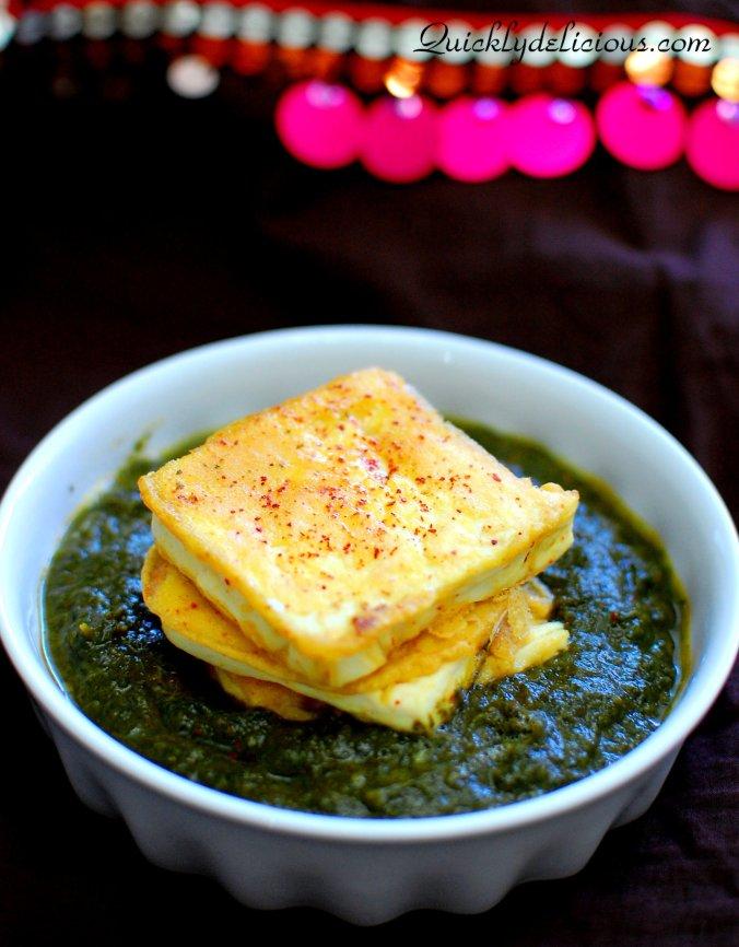 Palak with Tofu pakora (2)
