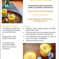 Mango Lassi/ Mango Smoothie (mmm mangolicious~)