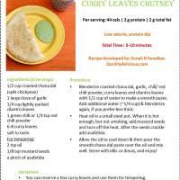 Roasted Chana Dal & Curry leaves Chutney (Indian Hummus ;)