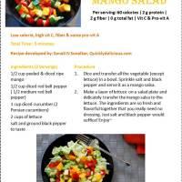 Refreshing Mango salsa to Mango ensalada